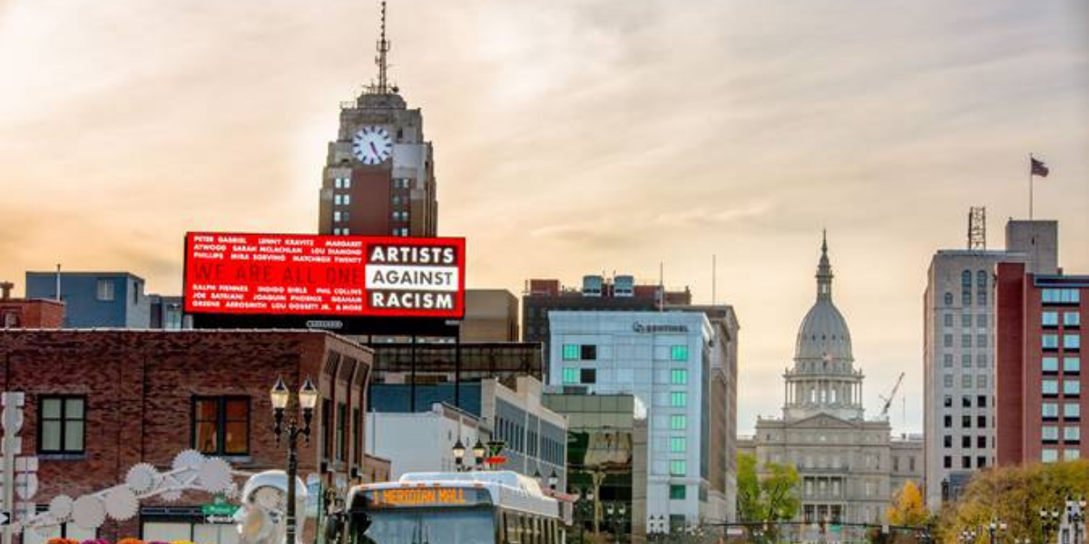 Artists Against Racism Lansing Billboard Campaign
