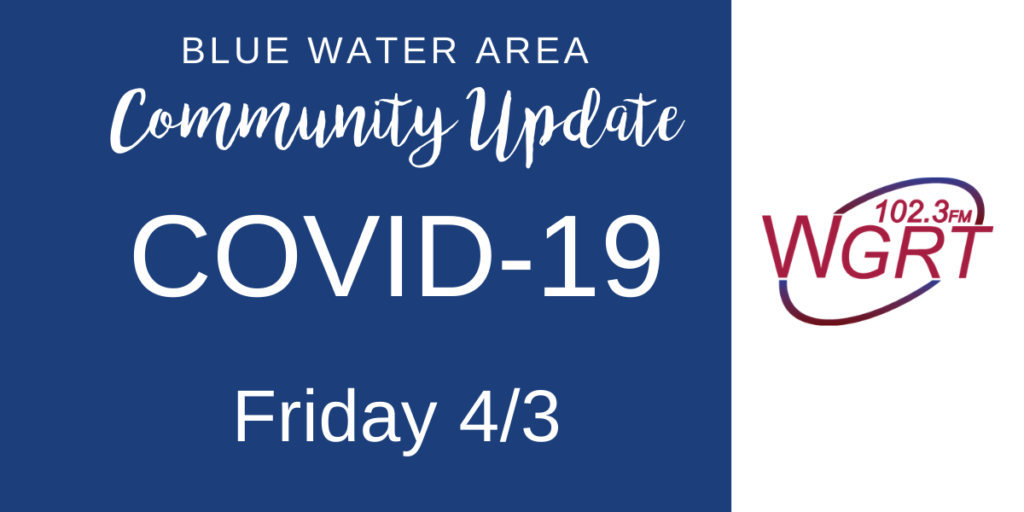 Blue Water Area COVID-19 Update April 6, 2020