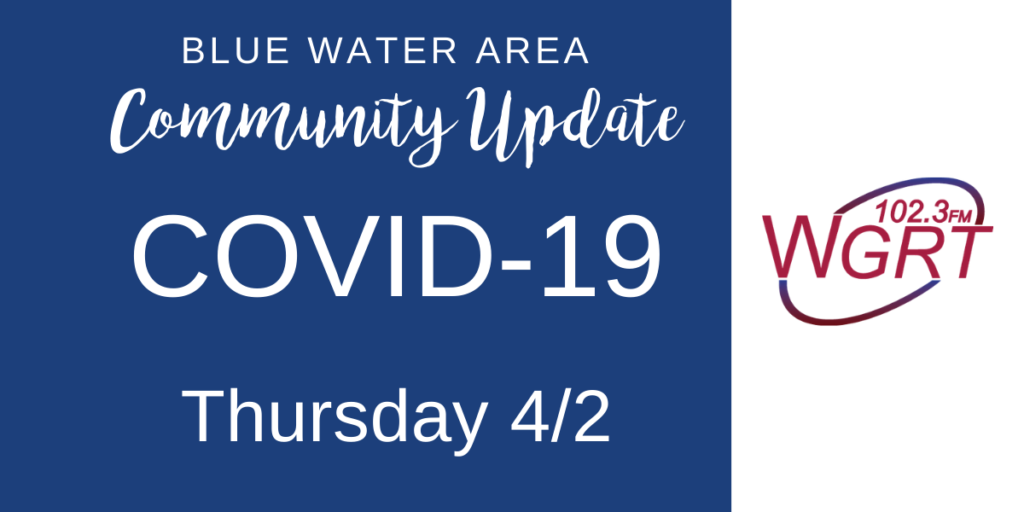 Blue Water Area COVID-19 Community Update April 2, 2020