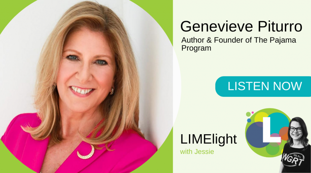 Genevieve Piturro Pajama Program WGRT's LIMElight with Jessie