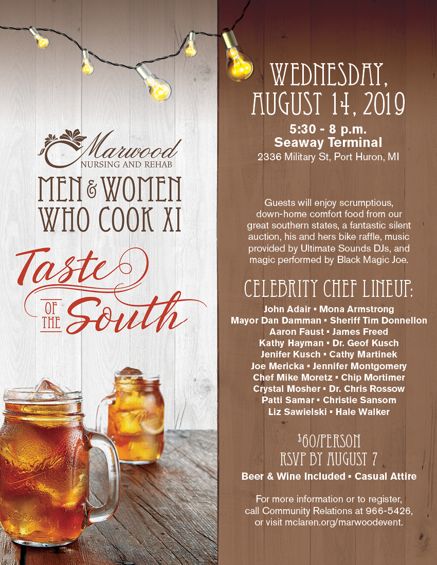 Marwood Nursing and Rehab annual men and women who cook event August 2019